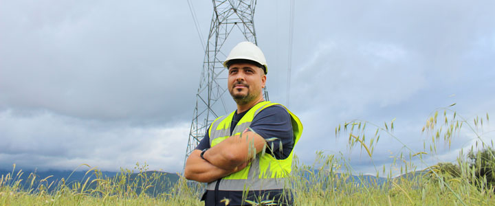 A utility worker